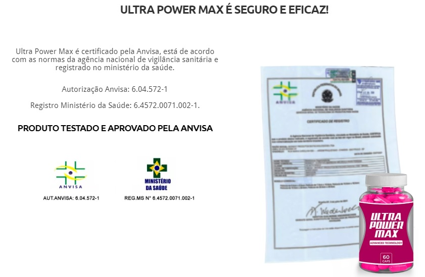 ultra power max anvisa